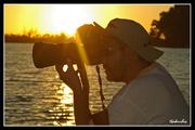 Ο Γιώργος στην λίμνη Καϊάφα