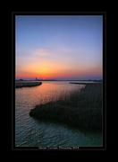 Ηλιοβασίλεμα στην λίμνη Βιστωνίδα