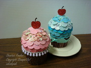 Cupcakes with a glittery cherry on top!