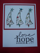 love hope peace joy Christmas card 2008