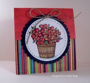 CK Red and Blue Color Challenge-flap card
