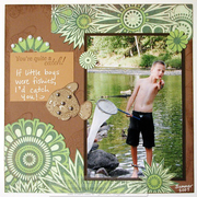 You're quite a catch - scrapbook page