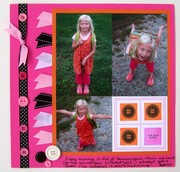 Cute as a button - scrapbook page