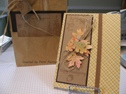 Altered accordion book and bag