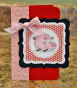 Hogs and Kisses Notecard