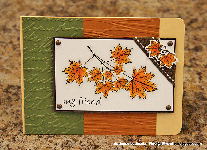 Autumn Leaves kit card 2
