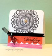 CK Moxie color challenge doily birthday wishes
