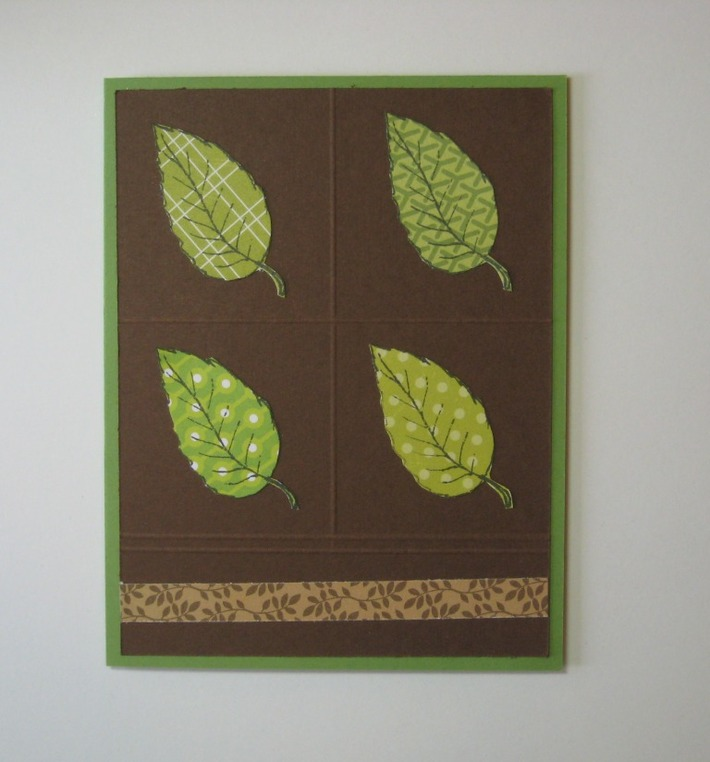 Leaf Notecard (paper pieced)