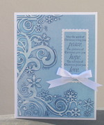 Cuttlebug Embossed Blue Christmas
