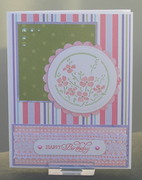 Flowers and Shapes Birthday Card
