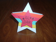 Star card with bands of color