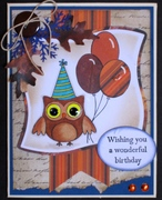 Critter Card - Birthday hoot