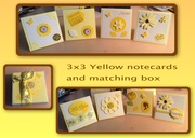 Yellow 3x3 cards