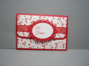 Gift card holder outside
