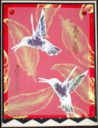 STV14TWELVEDAYS3 - STAINED GLASS VELLUM - Humming Birds