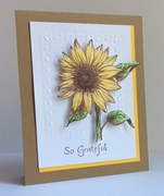 Stately Sunflower Thank You card