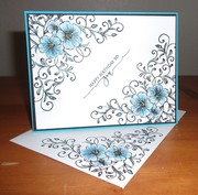 Birthday card and decorated envelope