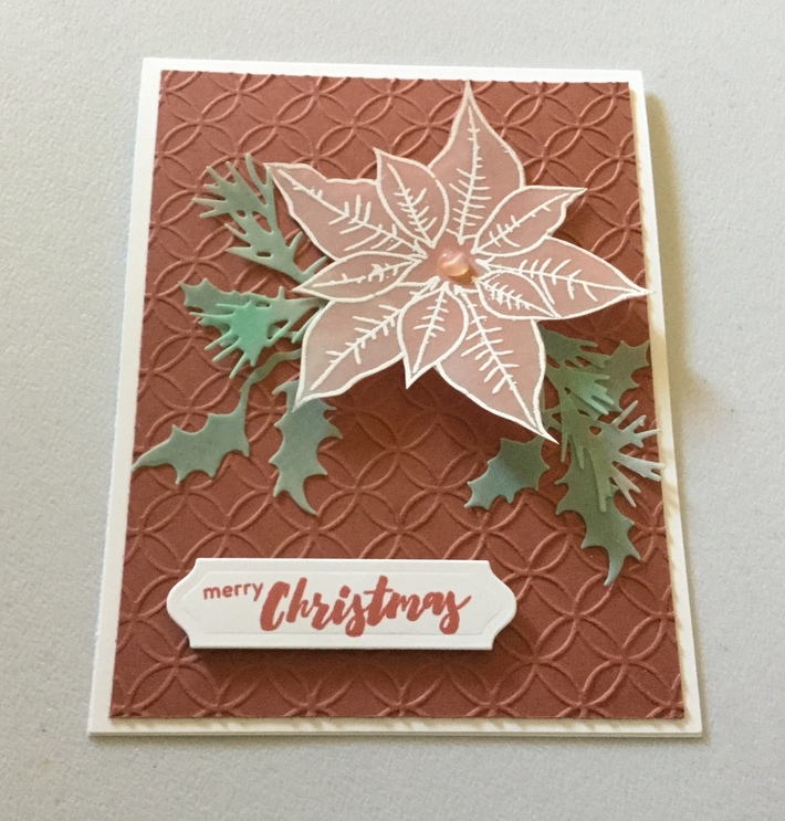 Christmas Card made with vellum