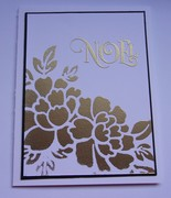 Gold Stencil Embossing