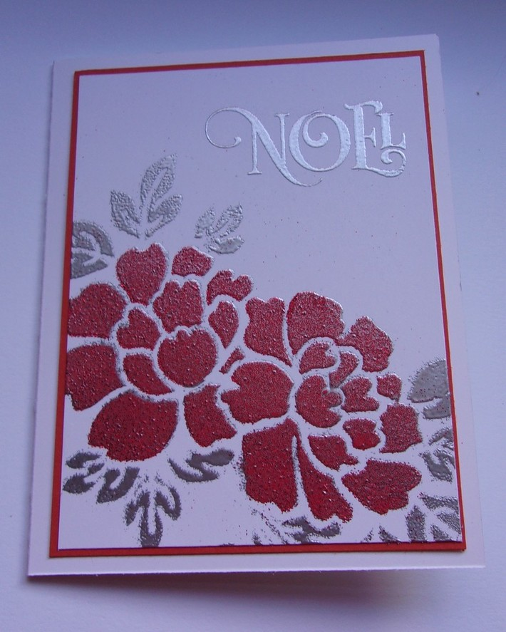 Two Color Stencil embossing