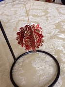 Foiled and glittered ornament
