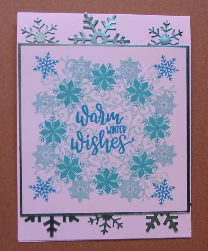 Wreath Stamping in Blues