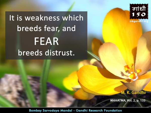 Thought For The Day ( #FEAR )