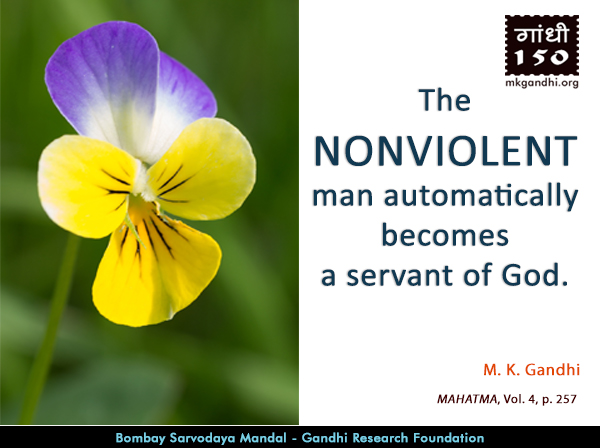 Thought For The Day ( NONVIOLENT )