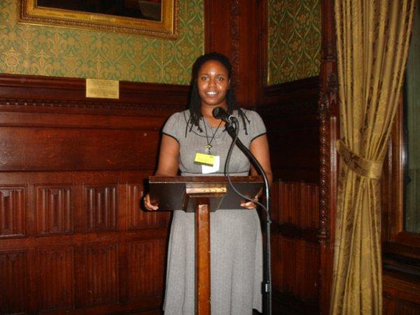Sharon Thompson speaking at the Leadership Ceremony