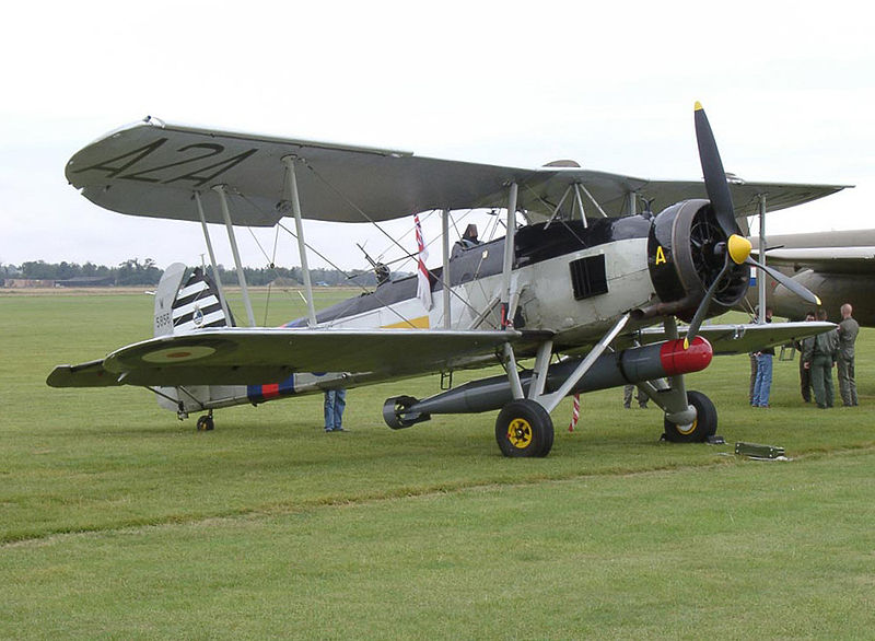 Fairey Swordfish on Airfield