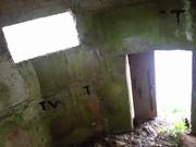 Interior of WWI pillbox.