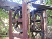 Close-up of target carrying winding gear