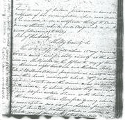 1816 Freedom Registration Paper for Lewis Adams as an FPOC in Ohio