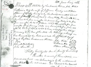 1813 Freedom/Manumission Papers for Lewis Adams