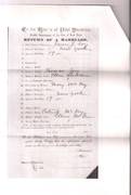 Part 2 James Foy and Mary McVey Marriage Certificate Circa 1882