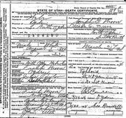 Joseph Glen Moore death certificate