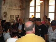 """I centauri partecipanti al raduno """"Moto storiche nel barocco ibleo"""" in visita al Museo Campailla"""
