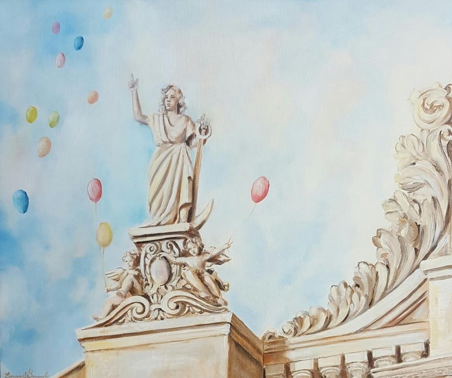 Barocco in festa 2013 olio cm 50 x60