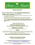 SHOE DRIVE!!For Northmont Elementary's Safe Routes to School Program