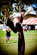 Stilt walking character
