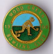 Wood Green Bowling Club Badge 1906