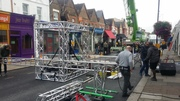 Filming on Myddleton Road