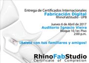 ENTREGA DE CERTIFICADOS RhinoFabStudio UPB