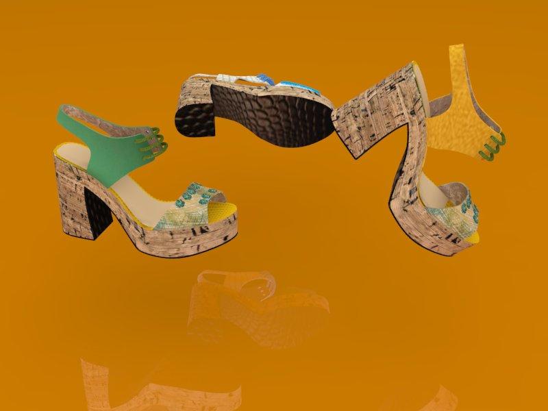 SANDALIAS 3D PLATAFORMA MODELO YADIRA