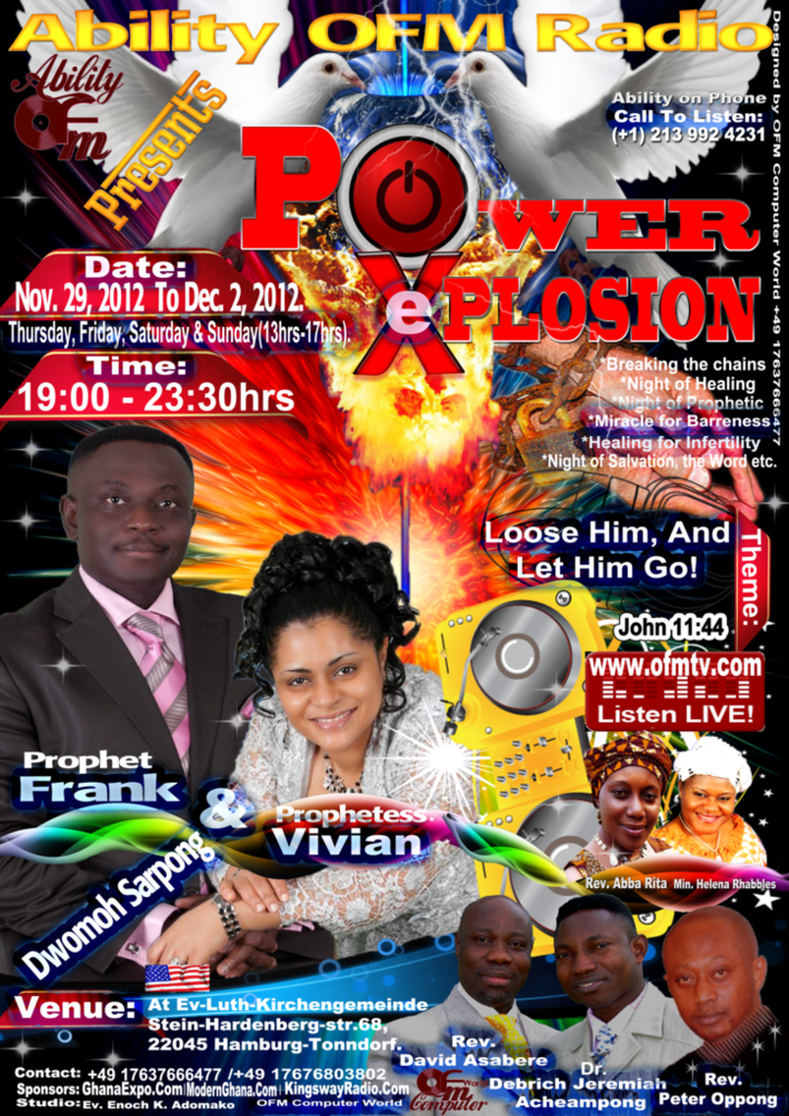 Power eXplosion With Prophet Frank Dwomoh Sarpong (USA)