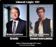 Liberal Logic 101 CEO v Hollywood Star