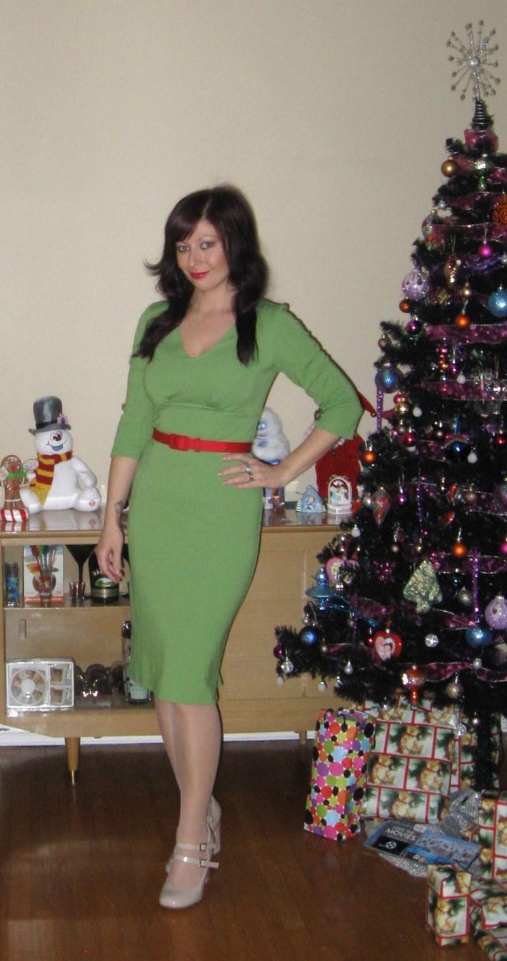 Laura Byrnes Black Label Marlene dress Green tea