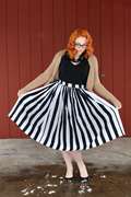 Black & White Stripe Jenny Skirt