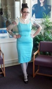 Jayne dress in Baby Blue, Size Large