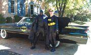 Sam and Karen Jackson w/Caddy Batmobile